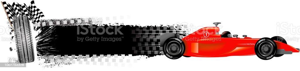 blank racing sport banner vector art illustration