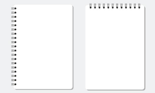 白紙のスケッチブック現実的なスパイラルノートに無地のフラットカラー。絶縁ます。 - メモ点のイラスト素材/クリップアート素材/マンガ素材/アイコン素材