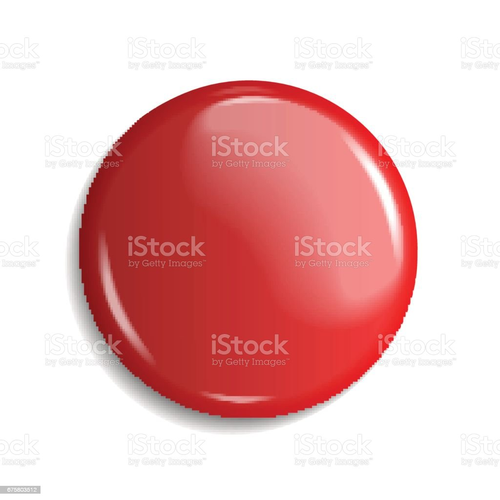 blank, red glossy badge or web button. vector illustration vector art illustration