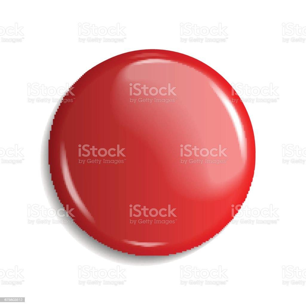 blank, red glossy badge or web button. vector illustration vector art illustration