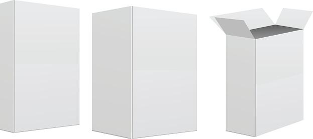 Blank retail box