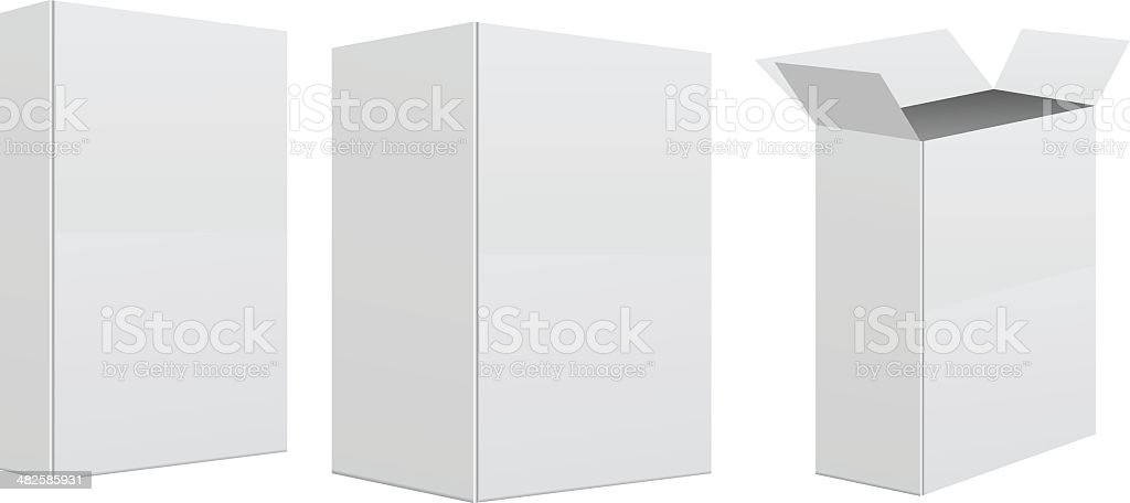 Blank retail box vector art illustration