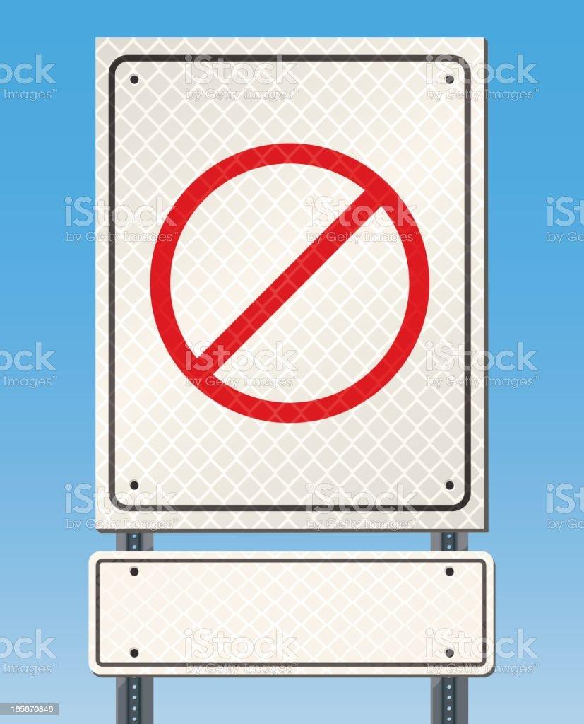 Blank Road or Street Sign vector art illustration