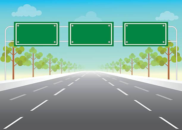 ilustraciones, imágenes clip art, dibujos animados e iconos de stock de blanco señal de tráfico en la autopista. - señalización vial