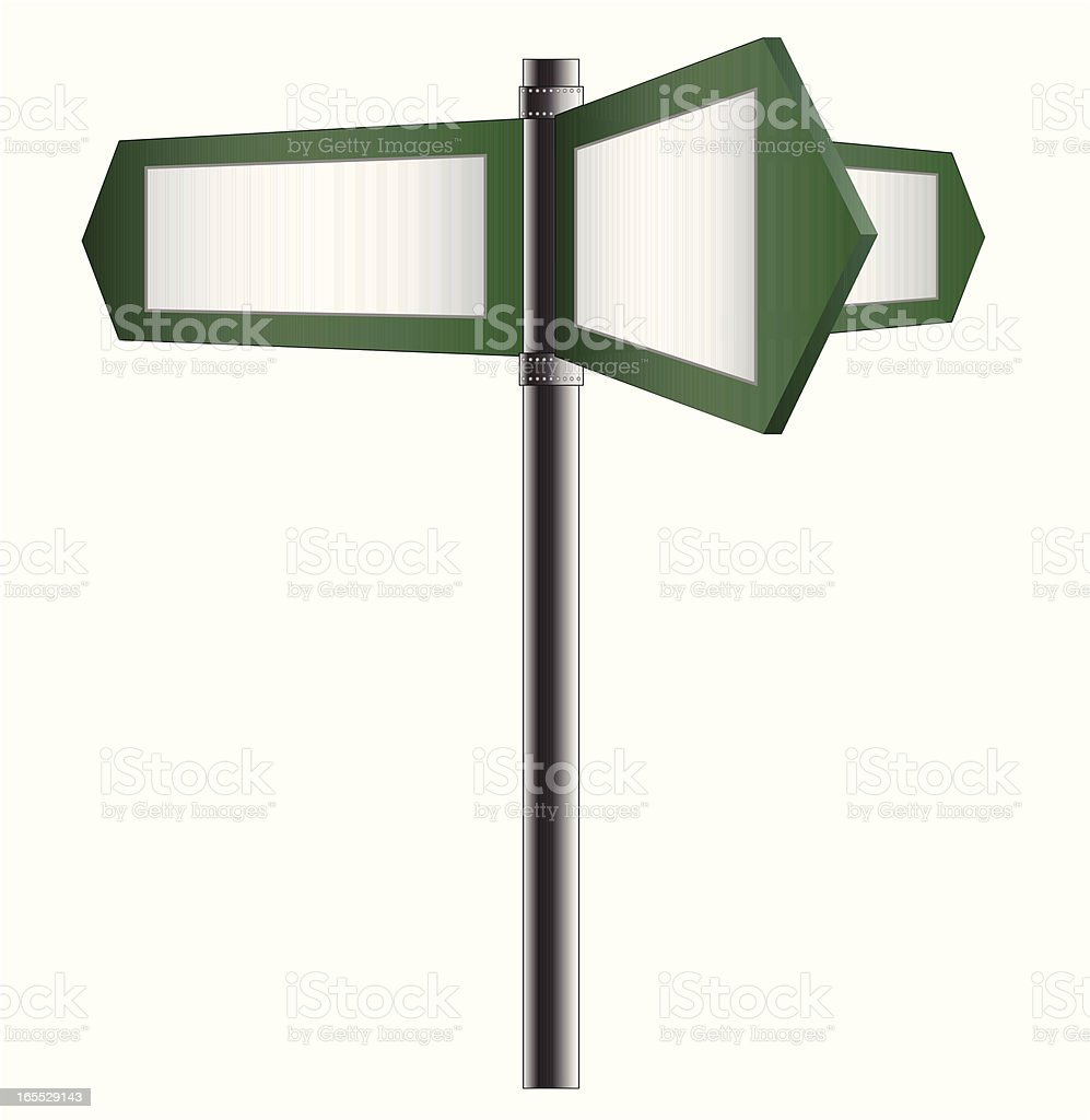 Blank road sign - VECTOR royalty-free blank road sign vector stock vector art & more images of advice
