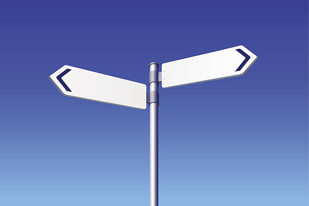 blank road signs - 方向標誌 幅插畫檔、美工圖案、卡通及圖標