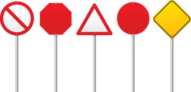 royalty free traffic signs clip art vector images illustrations