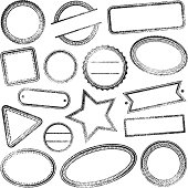 Set of blank grunge rubber stamps