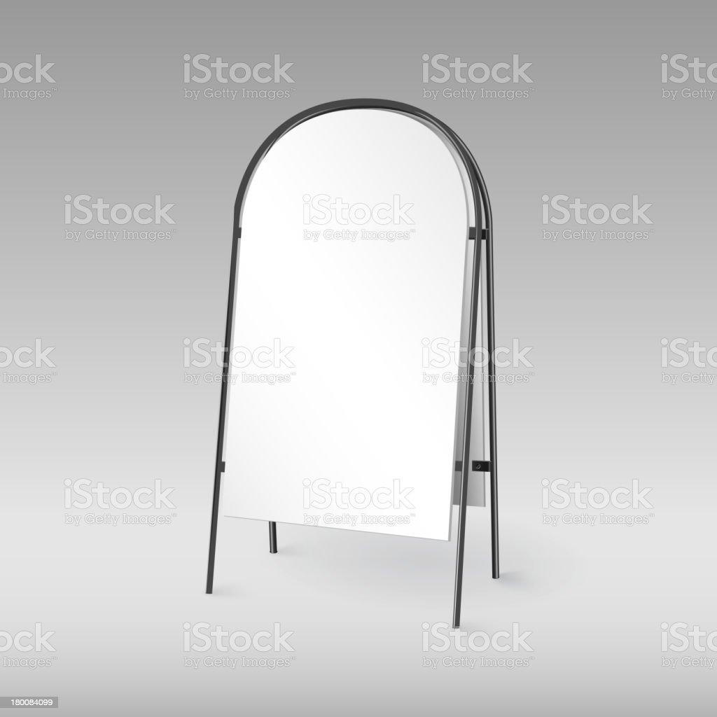 ブランクサンドイッチマン絶縁テンプレートをデザイン