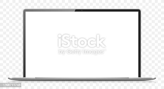 istock Blank Screen Laptop 1268711743