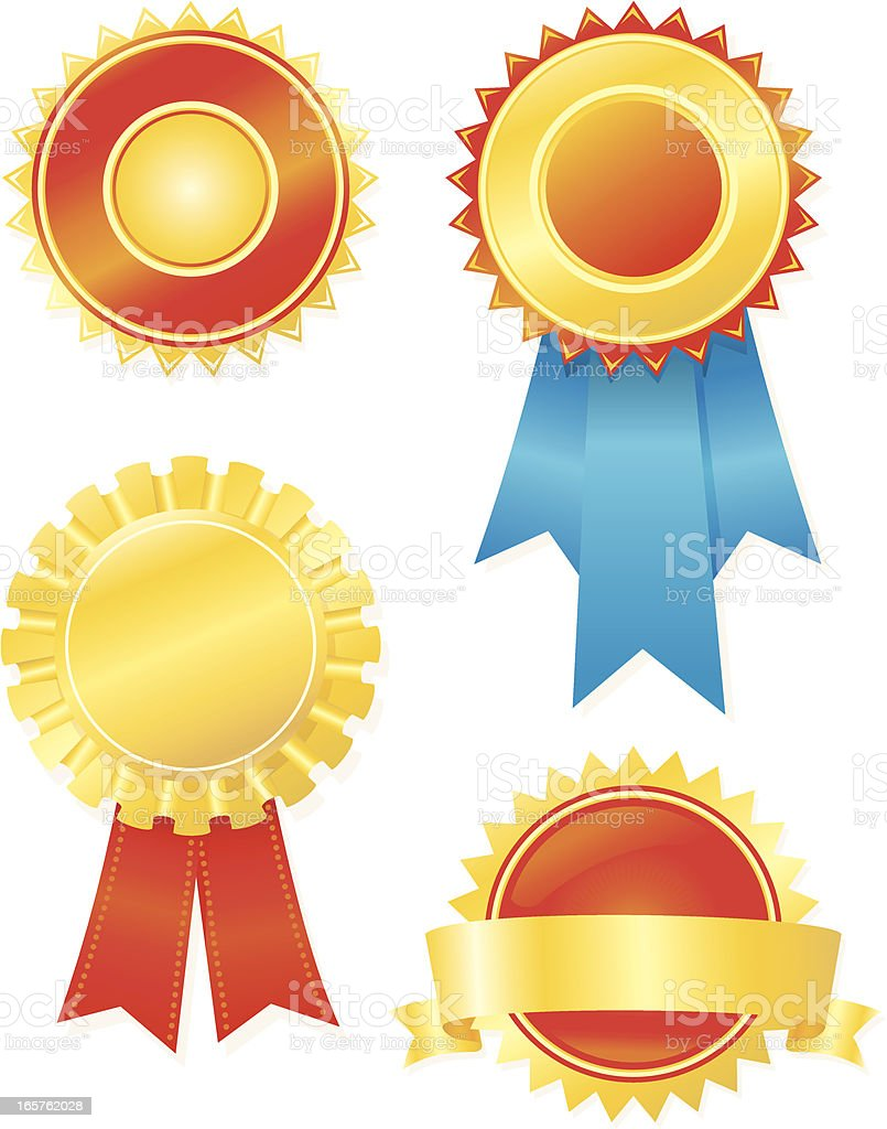 Blank Seal and Ribbon royalty-free blank seal and ribbon stock vector art & more images of achievement