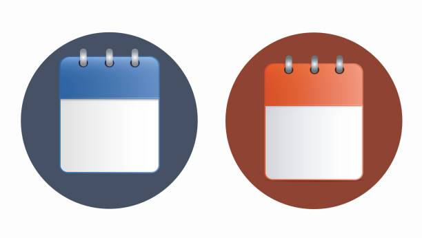Leeres Blatt Kalendersymbol in zwei Varianten. – Vektorgrafik