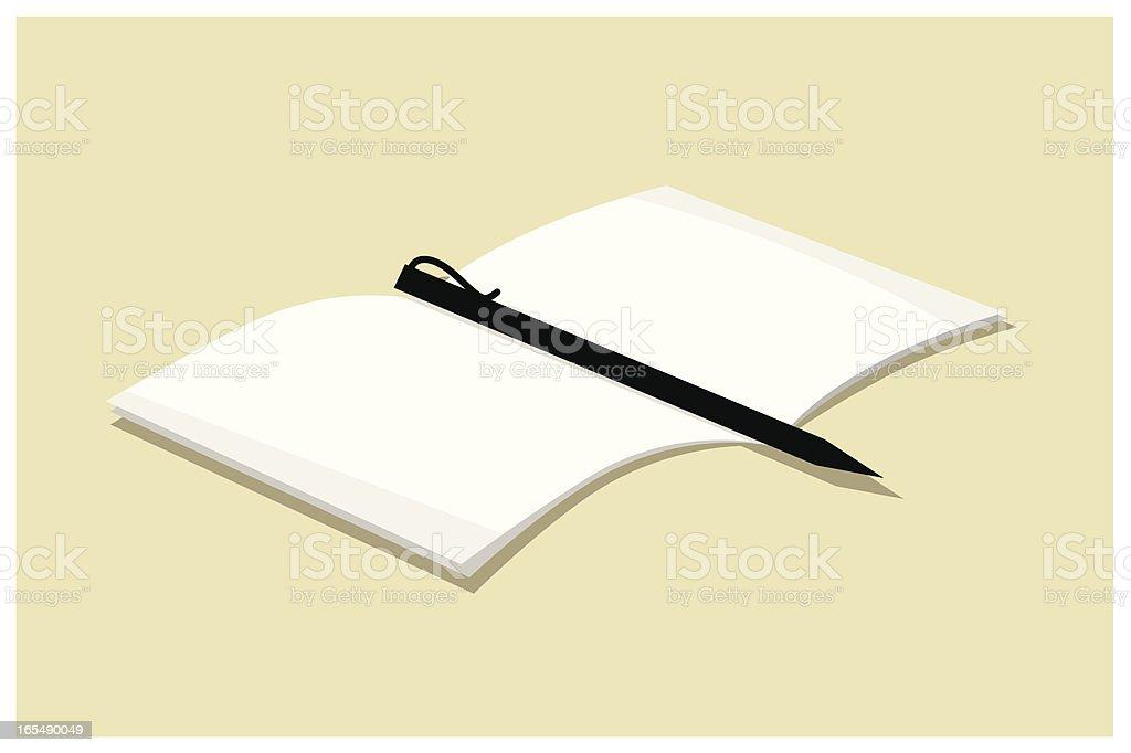 Blank sheet royalty-free stock vector art