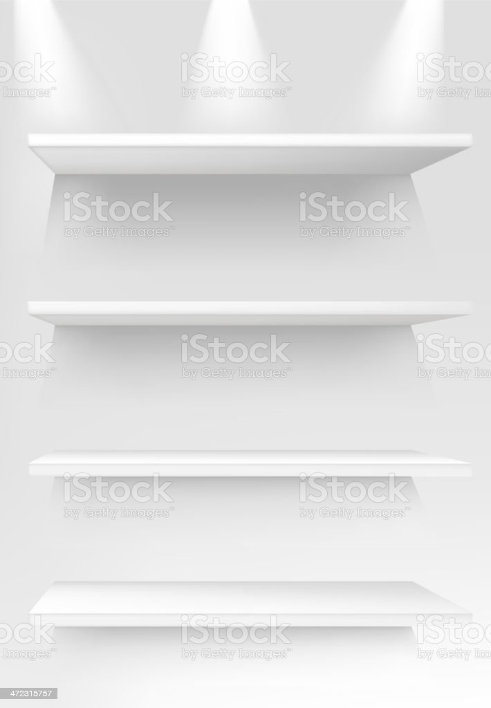 blank shelf vector art illustration