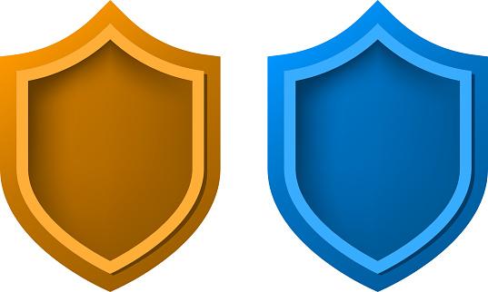 blank shield design element template