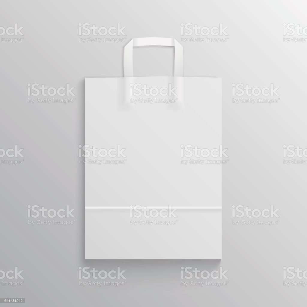blank shopping paper bag mock up for branding stock vector art