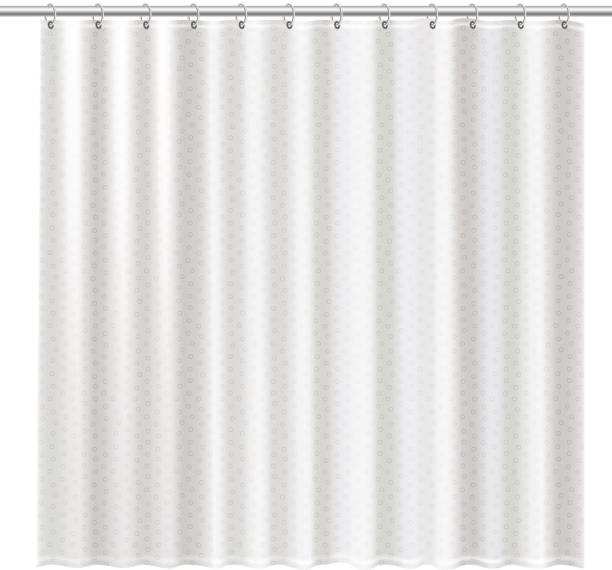 Blank shower curtains mock up to show your design Blank shower curtains mock up to show your design. Clean interior design elements for bathroom isolated on a white background. Hygiene facility concept. Detailed vector illustration. bathroom silhouettes stock illustrations