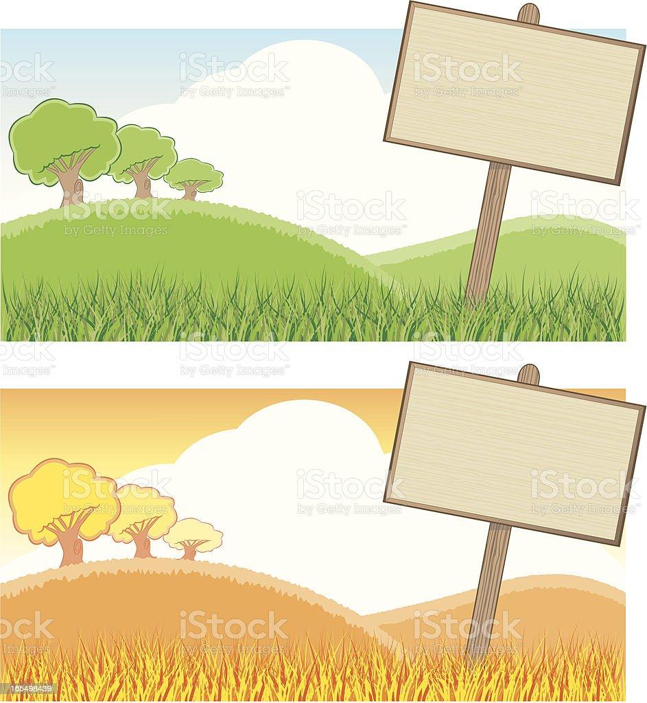 Blank Sign Backgrounds vector art illustration