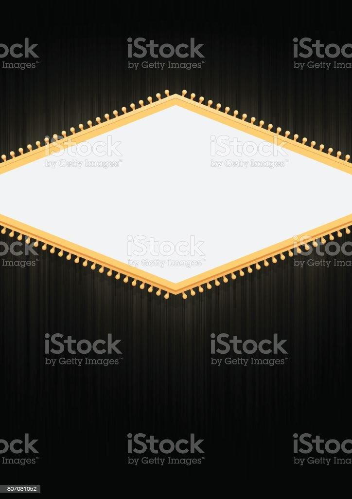 Blank sign poster background vector art illustration