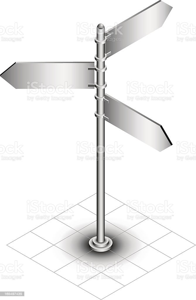 Blank signpost royalty-free stock vector art