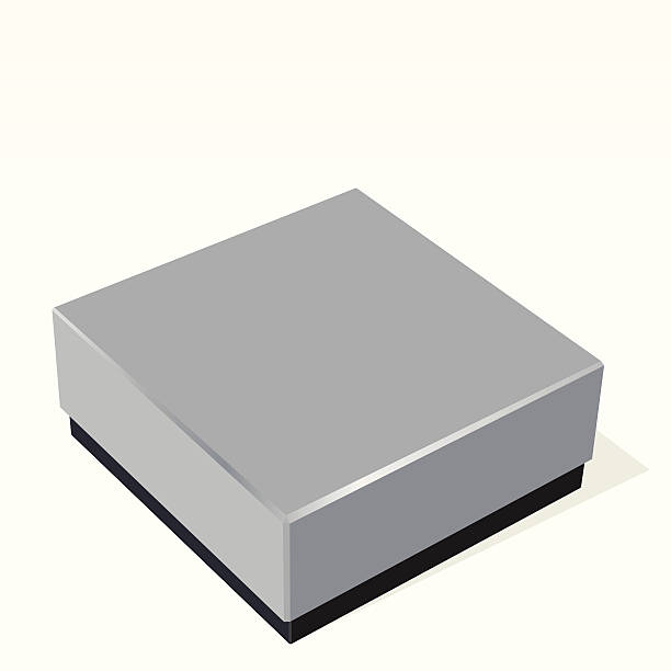 Blank silver box vector art illustration