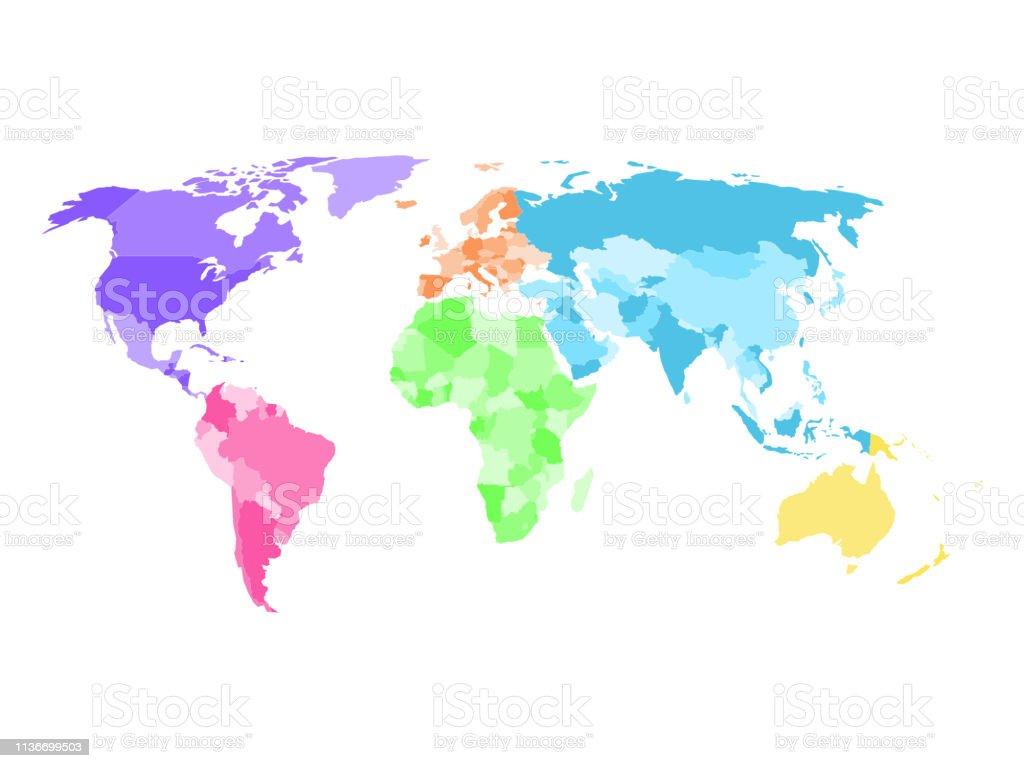 Vierge Carte Politique Simplifiée Du Monde Avec Différentes