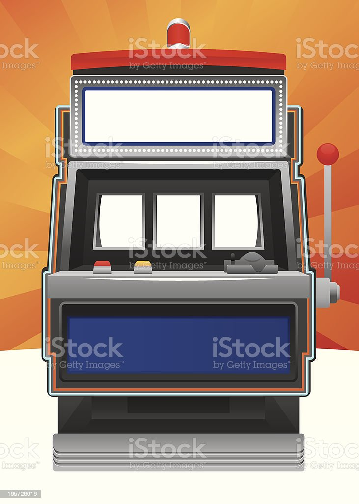 Blank slot machine vector art illustration