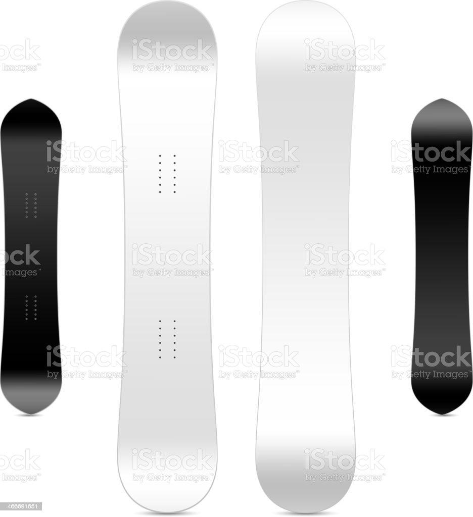 Leere Snowboardvorlage Stock Vektor Art und mehr Bilder von ...