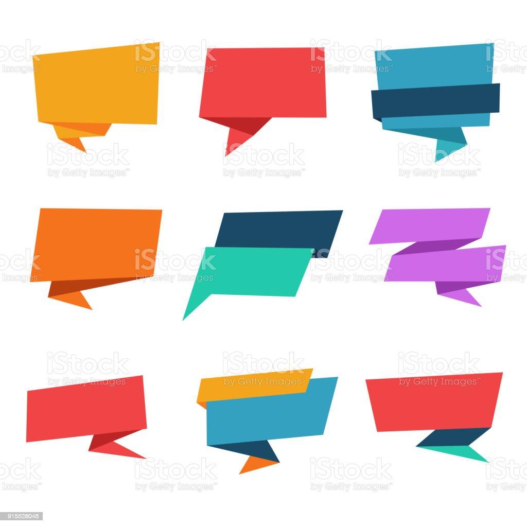 Blank Speech Bubble Banner Template – artystyczna grafika wektorowa