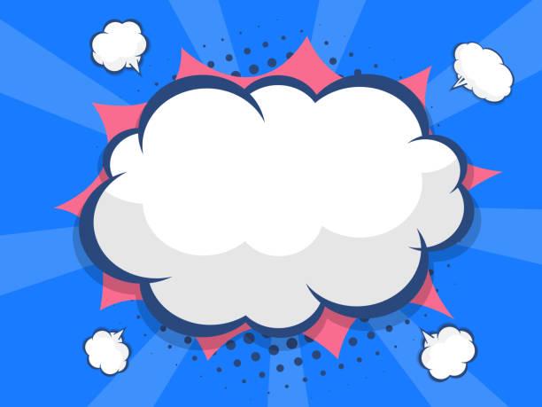 blank speech bubble comic book, pop art vector art illustration