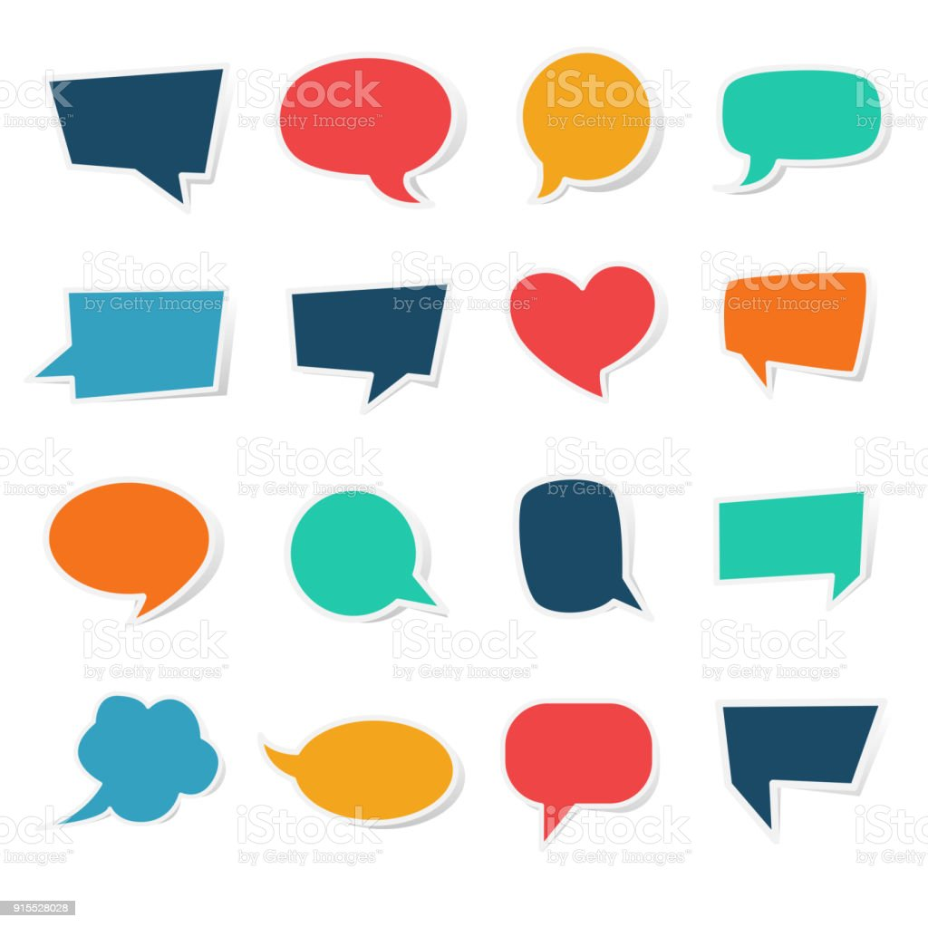 blank speech bubble paper sticker template stock vector art more