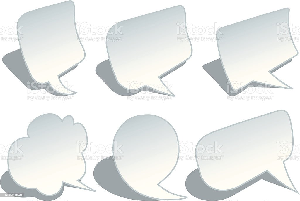 blank speech bubbles with shadow royalty-free stock vector art