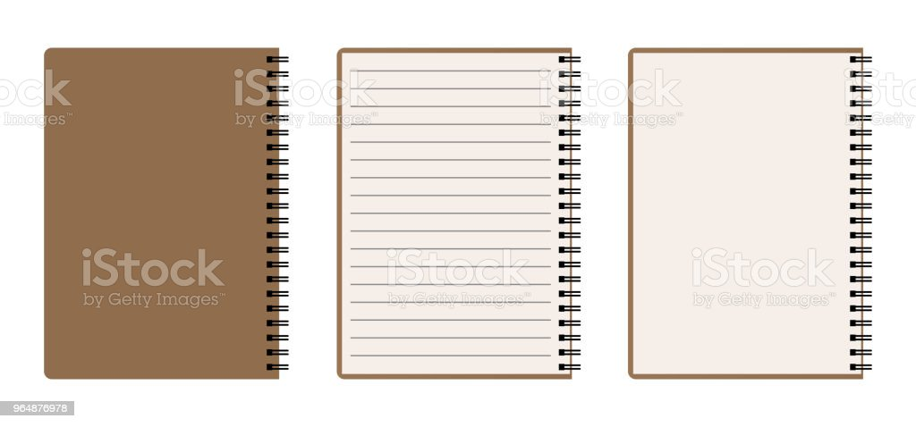 Blank spiral notebook set royalty-free blank spiral notebook set stock vector art & more images of blank