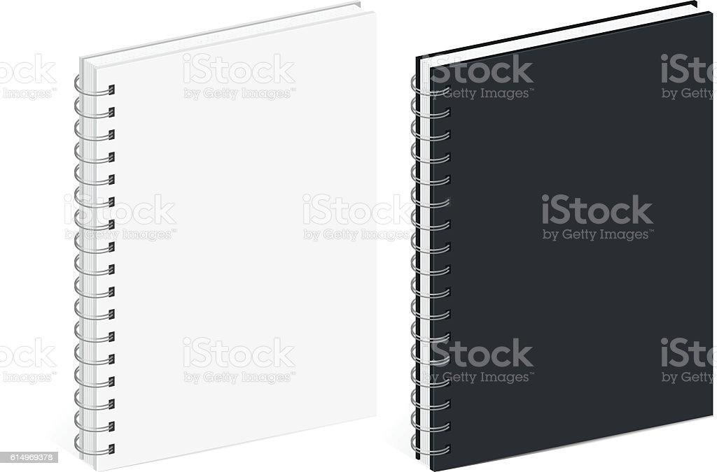 Notebook Template | Blank Spiral Notebook Template Stock Vektor Art Und Mehr Bilder Von