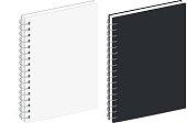 Blank Spiral Notebook Template