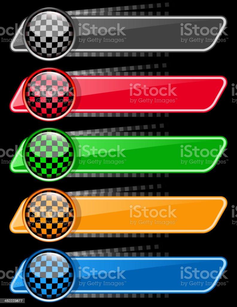 blank sports race banners vector art illustration