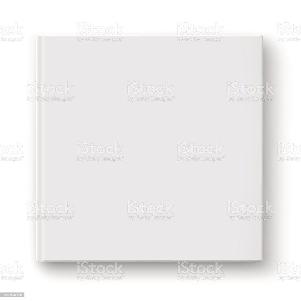Blank square album template. vector art illustration