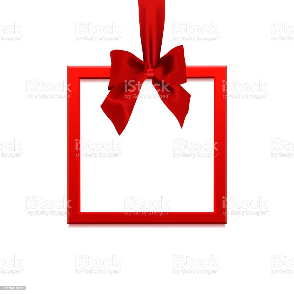 Bannière Vierge Carré Sous Forme De Cadeau De Noël Avec