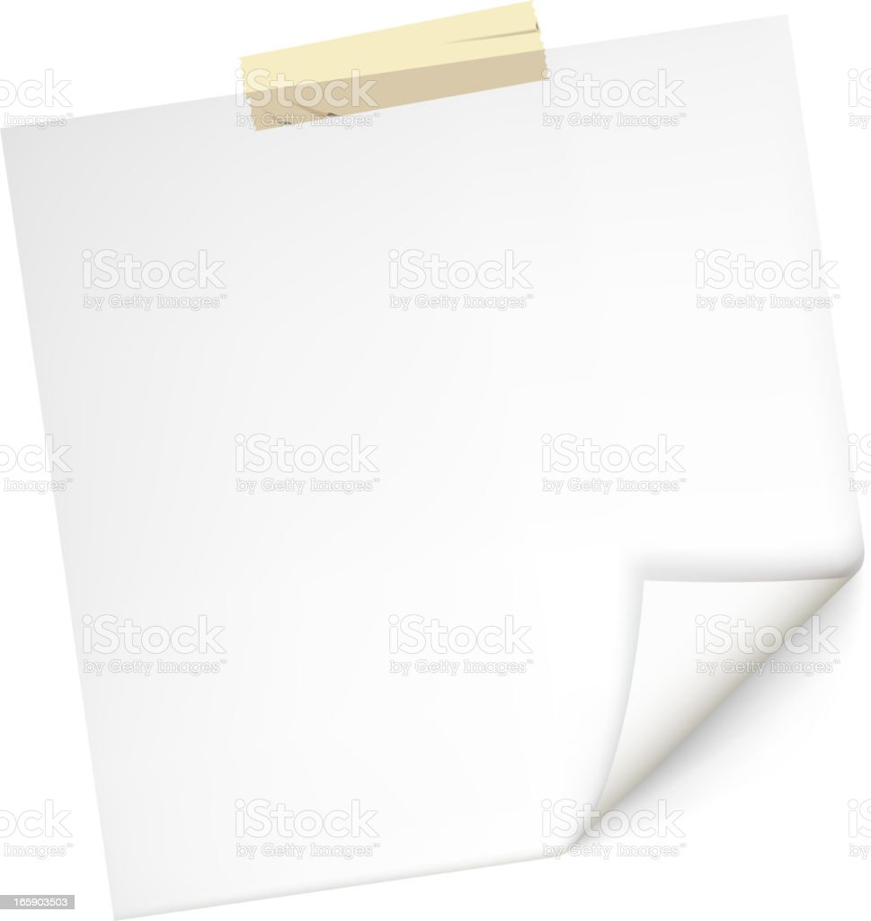 blank square paper royalty-free stock vector art