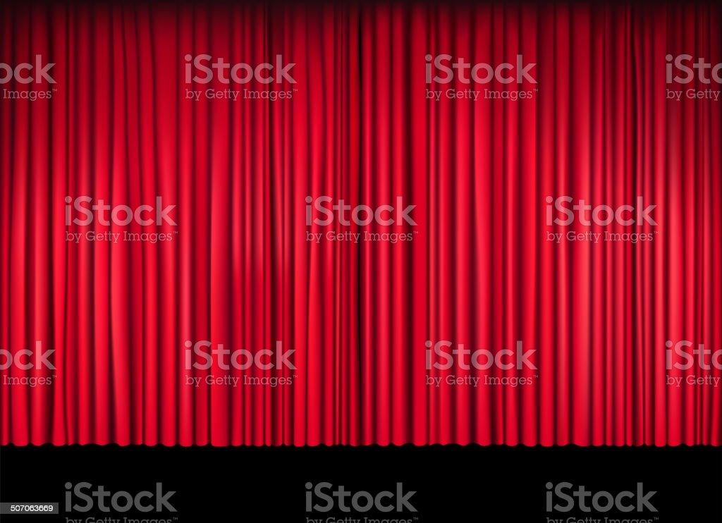 blank stage vector art illustration