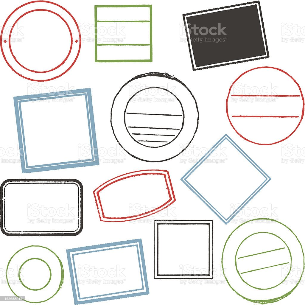 Blank stamps royalty-free stock vector art