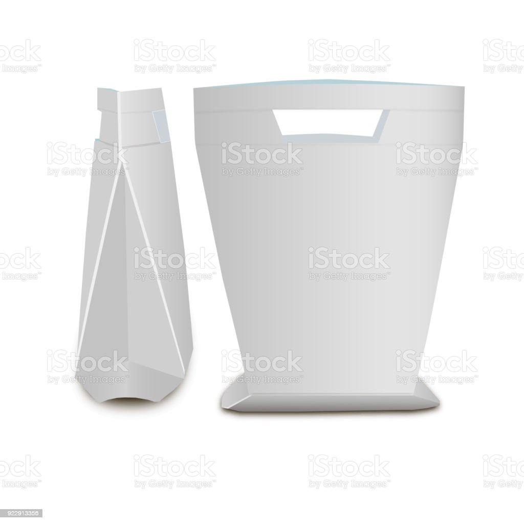 Stand Up Pouch Designs : Blank stand up pouch snack sachet bag with handle mock