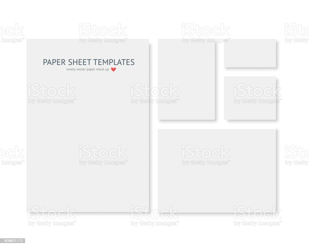 Blank stationery and corporate identity template. Consist of realistic vecto - 로열티 프리 0명 벡터 아트