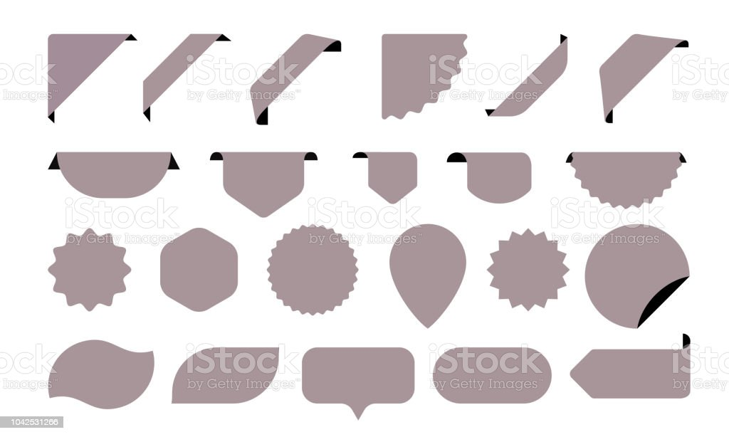 Blank Stickers Icons For Shop Tags Labels And Sale Posters