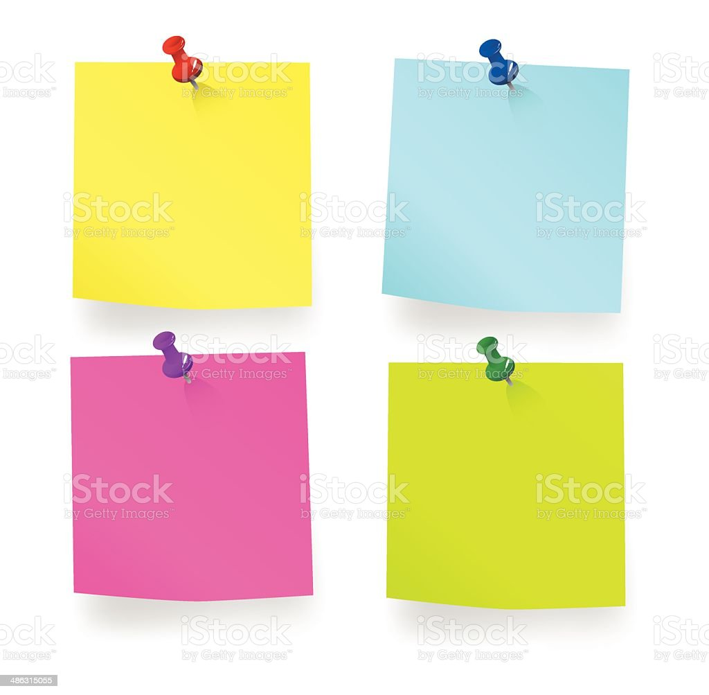Blank Sticky Note vector art illustration