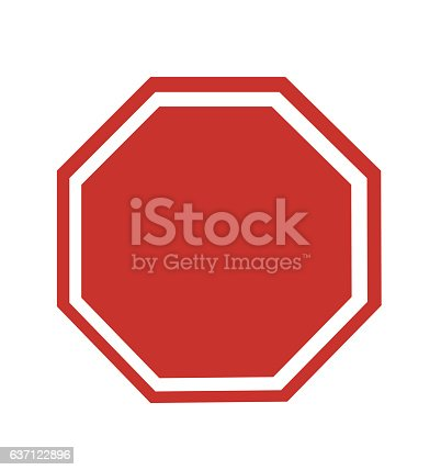 Blank Stop Sign vector illustration