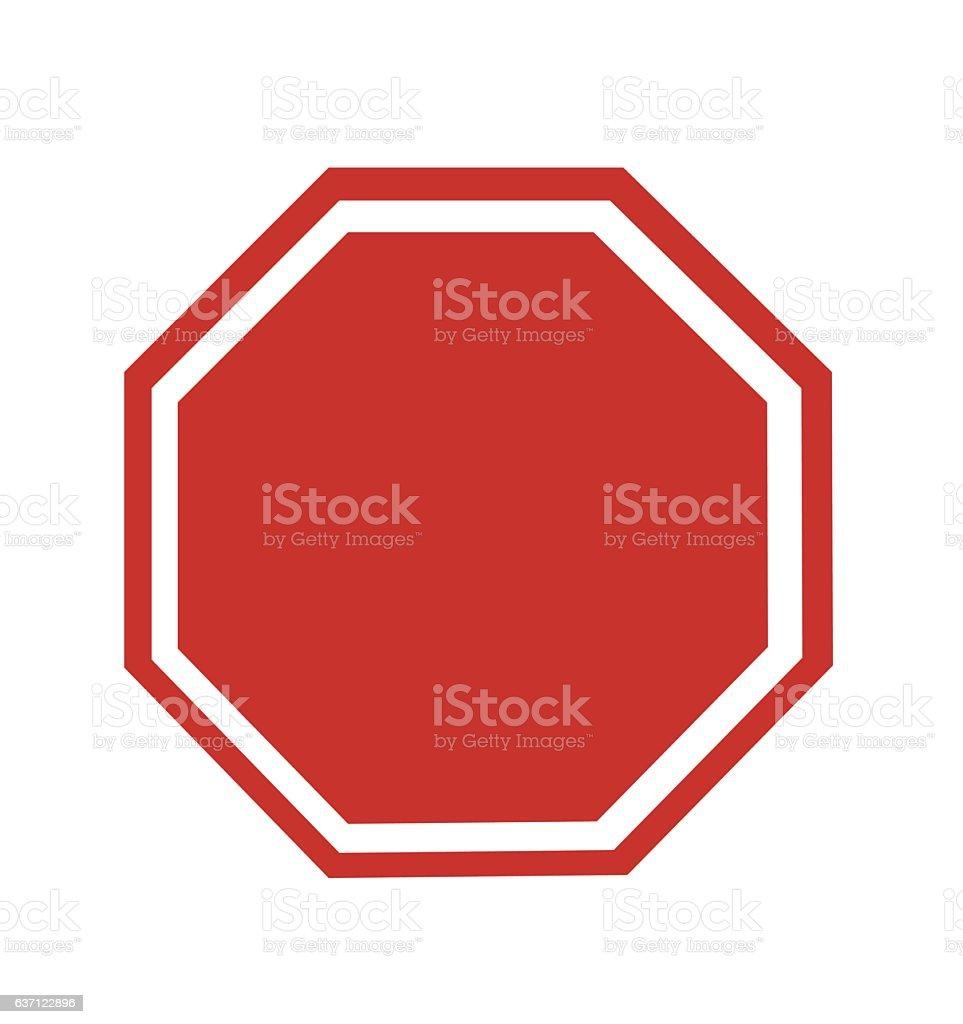 Blank Stop Sign vector art illustration