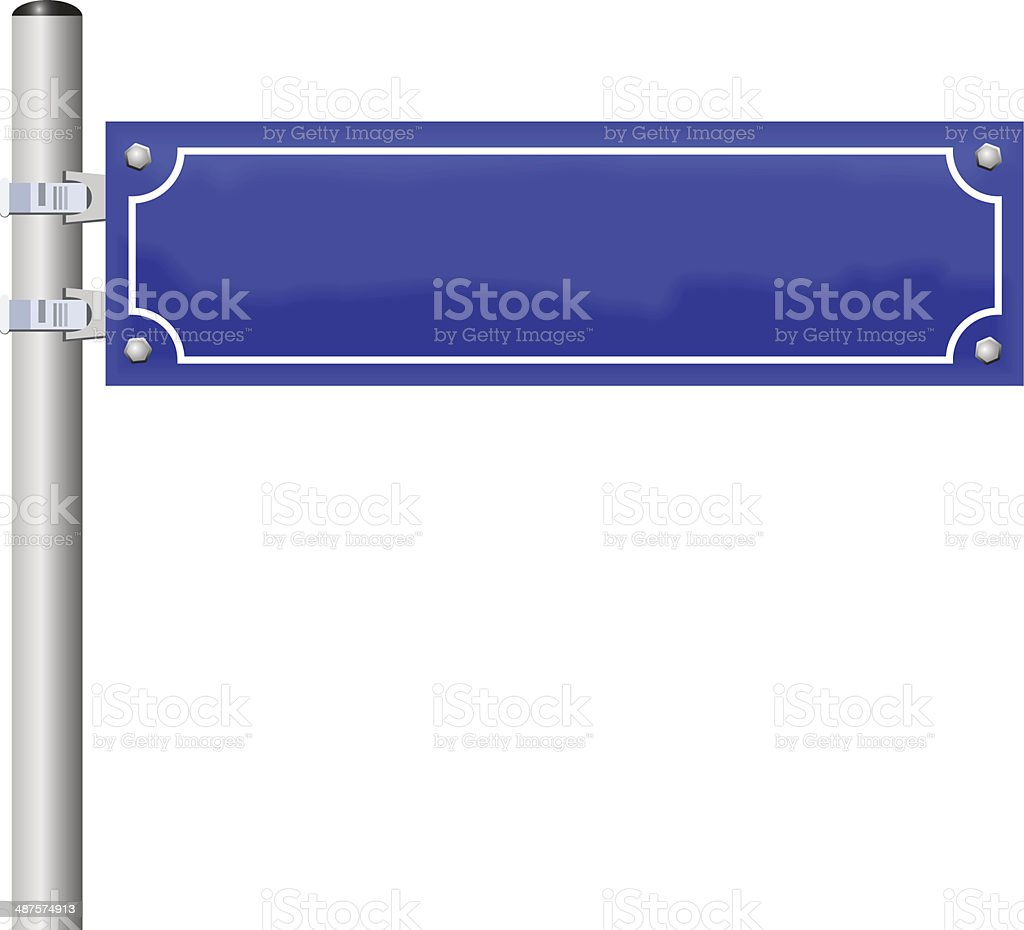 Blank Street Name Sign vector art illustration