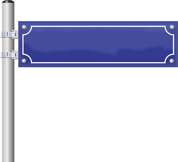 leere straßenschild - straßenschilder stock-grafiken, -clipart, -cartoons und -symbole