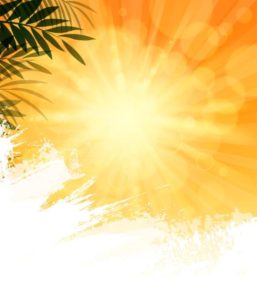 ilustraciones, imágenes clip art, dibujos animados e iconos de stock de cielo soleado en blanco - summer background